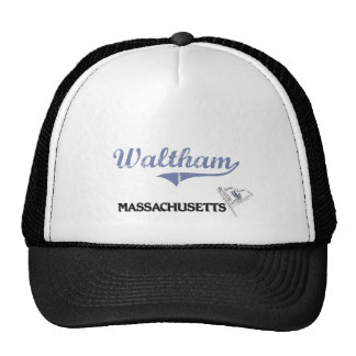 Waltham Massachusetts City Classic Trucker Hats
