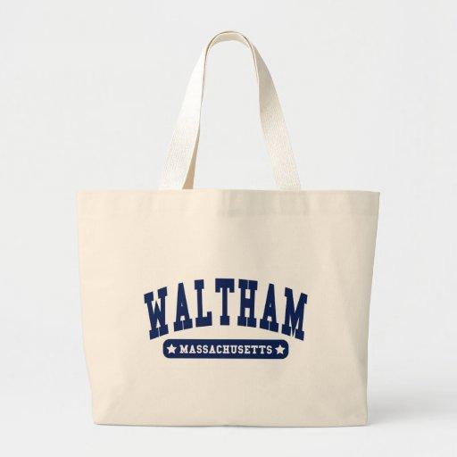 Waltham Massachusetts College Style tee shirts Canvas Bag
