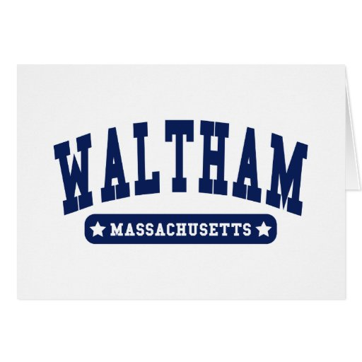Waltham Massachusetts College Style tee shirts Greeting Card