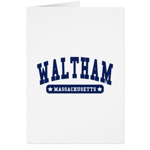 Waltham Massachusetts College Style tee shirts Greeting Cards