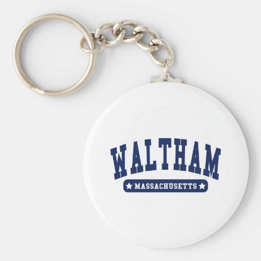 Waltham Massachusetts College Style tee shirts Key Chain