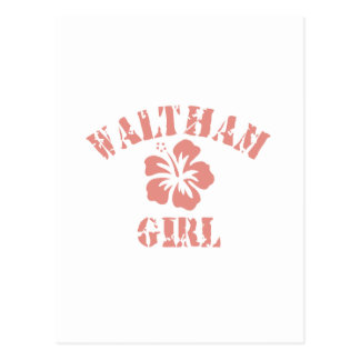 Waltham Pink Girl Postcard