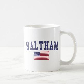 Waltham US Flag Basic White Mug