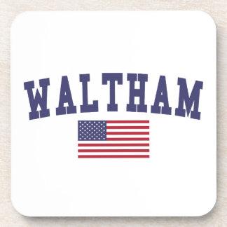 Waltham US Flag Drink Coaster