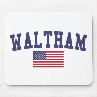 Waltham US Flag Mouse Pad