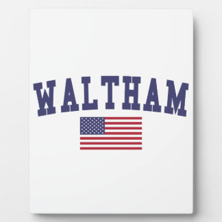 Waltham US Flag Plaques