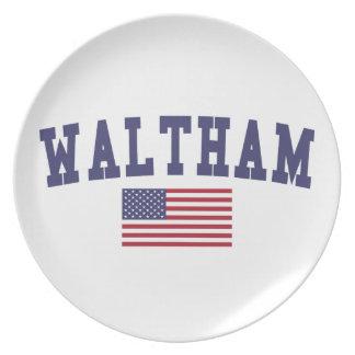 Waltham US Flag Plates