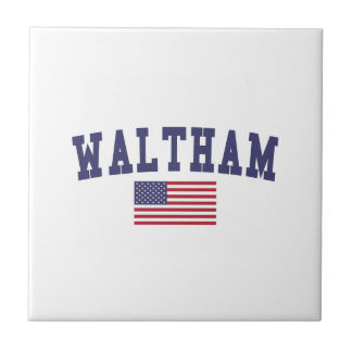 Waltham US Flag Small Square Tile