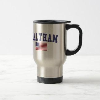 Waltham US Flag Stainless Steel Travel Mug