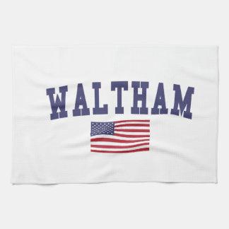 Waltham US Flag Tea Towel