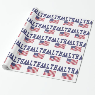 Waltham US Flag Wrapping Paper