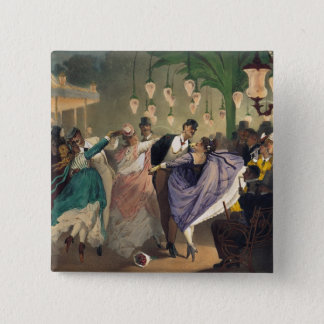 Waltz at the Bal Mabille 15 Cm Square Badge