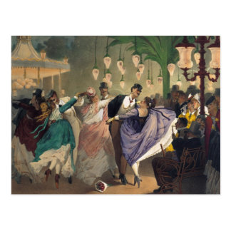 Waltz at the Bal Mabille Postcard