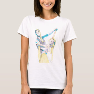 Waltz Ballroom Dancers Drawing T-Shirt