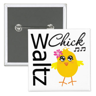 Waltz Chick 15 Cm Square Badge