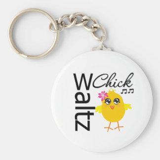 Waltz Chick Basic Round Button Key Ring