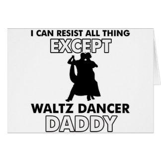 Waltz dance designs greeting card