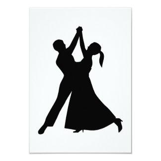 Waltz dancing 9 cm x 13 cm invitation card