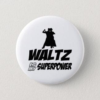 Waltz dancing designs 6 cm round badge