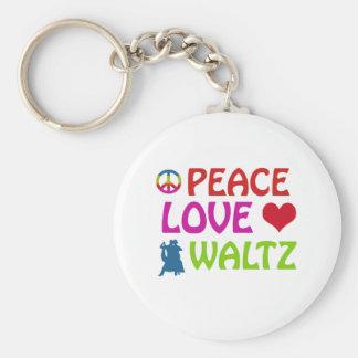 Waltz dancing designs basic round button key ring