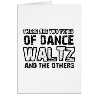 Waltz dancing designs greeting card