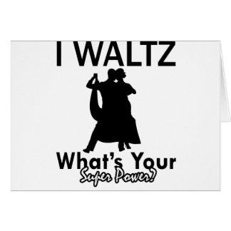 Waltz dancing designs cards