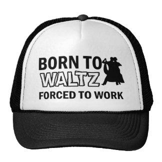 Waltz dancing designs mesh hats