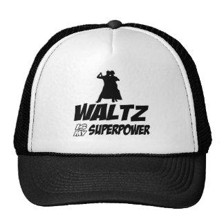 Waltz dancing designs trucker hats