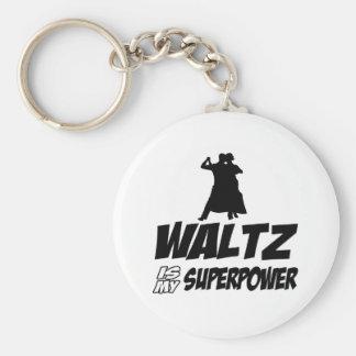 Waltz dancing designs key chains