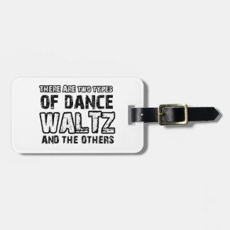 Waltz dancing designs bag tag