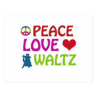 Waltz dancing designs postcard