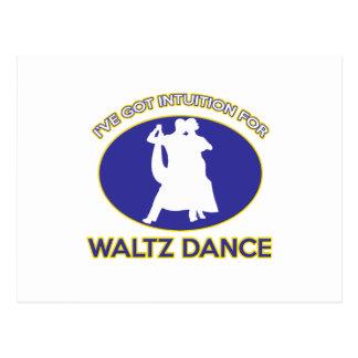 waltz design postcard