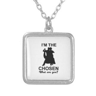 waltz design square pendant necklace