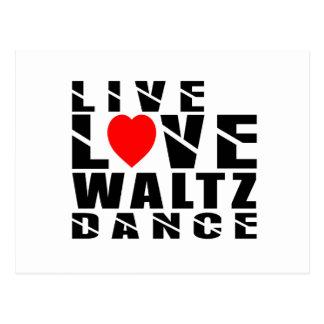 WALTZ  Designs Postcard