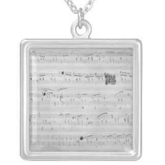 Waltz in F minor Square Pendant Necklace