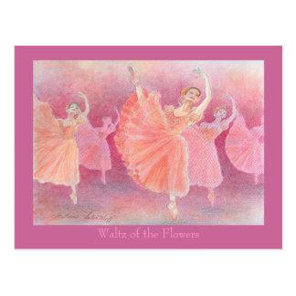 Waltz post card of flower