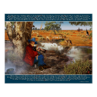 Waltzing Matilda. Banjo Paterson Words and starrin Poster