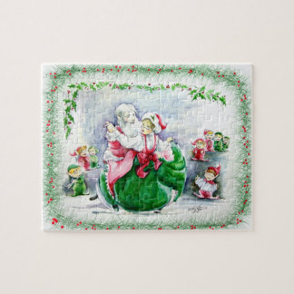 Waltzing Santa & Mrs. Claus Puzzle