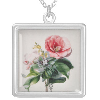 wamellia and Broom Silver Plated Necklace