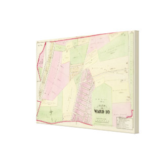 wan Point Cemetery and East Avenue Plat Atlas Map Canvas Print
