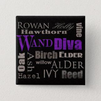 WAND Diva 15 Cm Square Badge