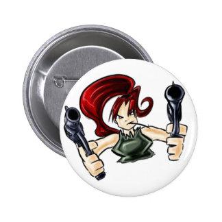 Wanda the Shooter Pinback Buttons