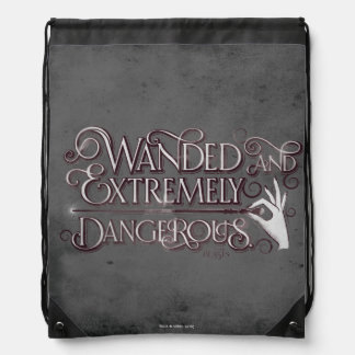 Wanded And Extremely Dangerous Graphic - White Drawstring Bag
