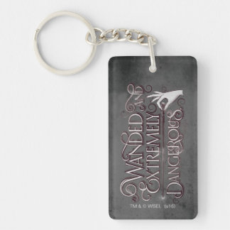 Wanded And Extremely Dangerous Graphic - White Key Ring