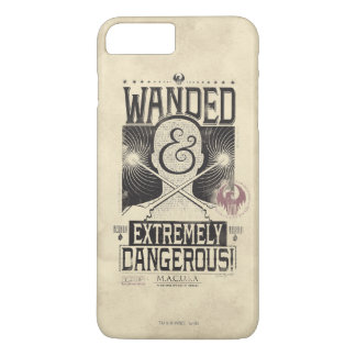 Wanded & Extremely Dangerous Wanted Poster - Black iPhone 8 Plus/7 Plus Case