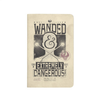 Wanded & Extremely Dangerous Wanted Poster - Black Journals