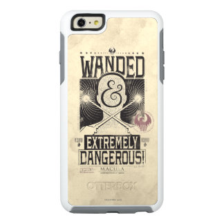 Wanded & Extremely Dangerous Wanted Poster - Black OtterBox iPhone 6/6s Plus Case