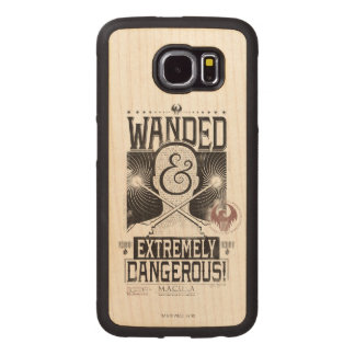 Wanded & Extremely Dangerous Wanted Poster - Black Wood Phone Case