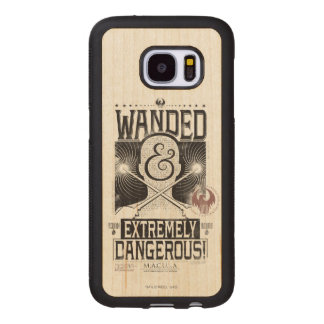 Wanded & Extremely Dangerous Wanted Poster - Black Wood Samsung Galaxy S7 Case