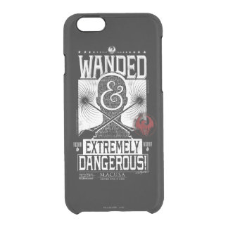 Wanded & Extremely Dangerous Wanted Poster - White Clear iPhone 6/6S Case